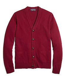 Cashmere Button-Front Cardigan