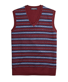 Merino Wool Fair Isle Sweater Vest