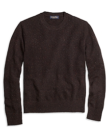 Textured Chest Crewneck Sweater