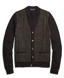 Harris Tweed Button-Front Cardigan