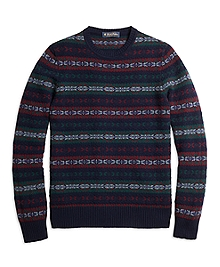 Cashmere Fair Isle Crewneck Sweater