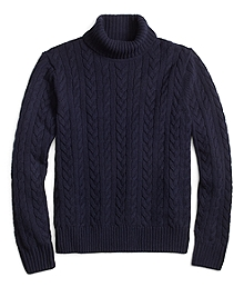 Saxxon Wool Cable Turtleneck
