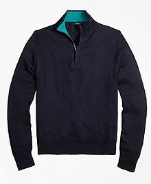 Sea Island Cotton Half-Zip Sweater