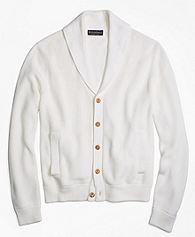 Supima® Cotton Shawl Collar Cardigan
