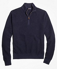 Pique Stitch Half-Zip Sweater