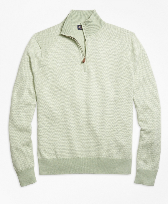 Herringbone Half-Zip Sweater