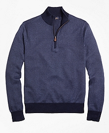 Herringbone Half-Zip Sweater