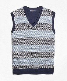 Textured Geometric Stitch Vest
