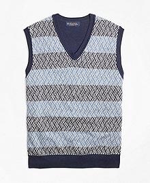 Textured Geometric Stitch Vest