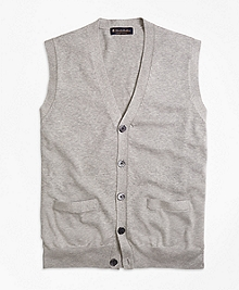 Supima® Cotton Button-Front Vest
