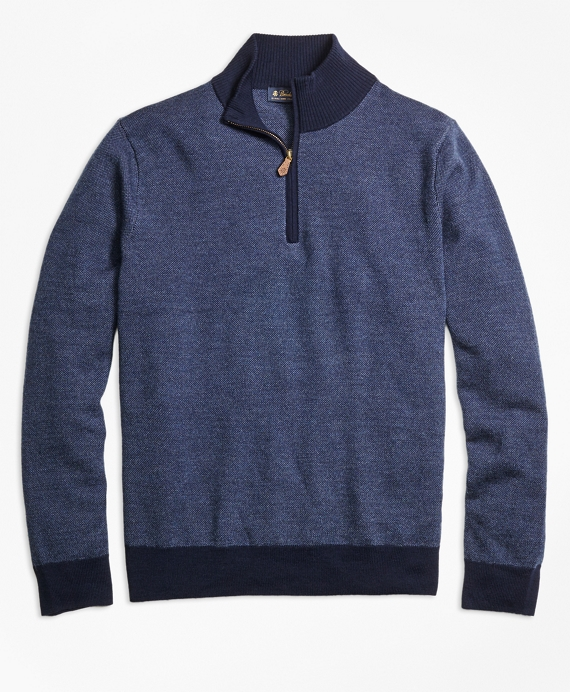 Merino Wool V-Neck Sweater Navy