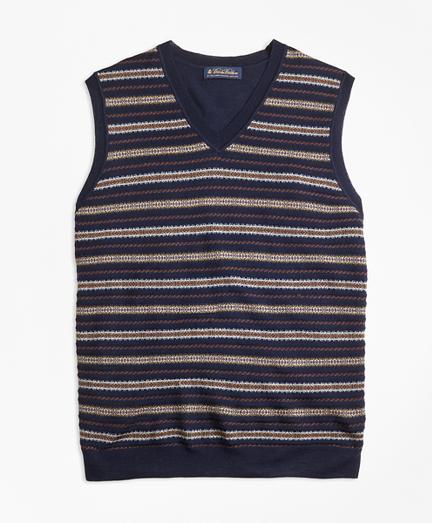Merino Wool Fair Isle Vest