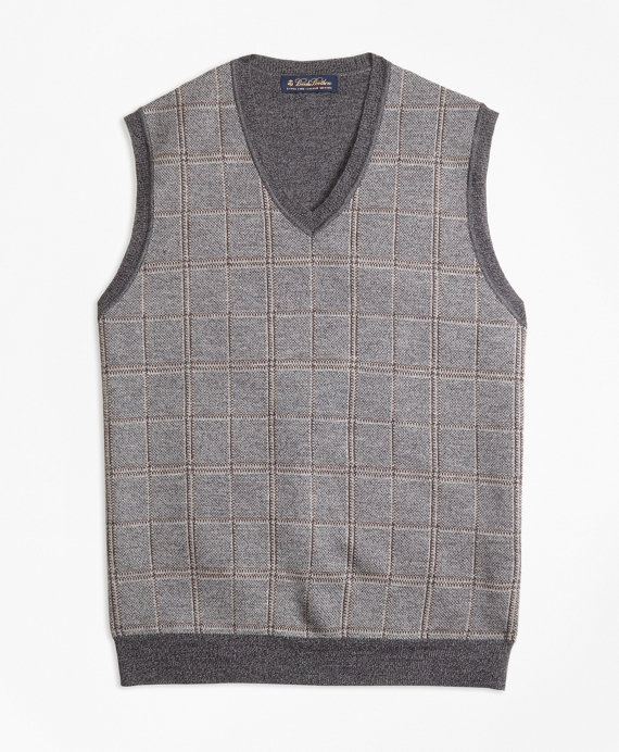 Merino Wool Plaid Vest