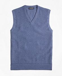 Cotton Cashmere Pique Vest