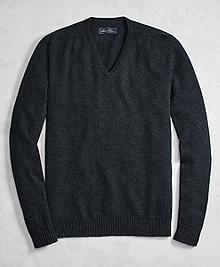 Golden Fleece® 3-D Knit Cashmere Raglan V-Neck Sweater