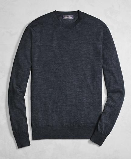 Golden Fleece® 3-D Knit Fine-Gauge Merino Wool Crewneck Sweater