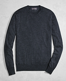 Golden Fleece® 3-D Knit Fine-Gauge Merino Wool Crewneck Sweater