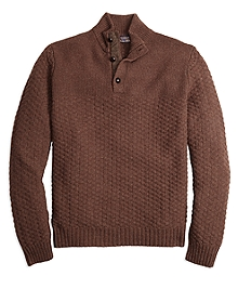 Braemar for Brooks Brothers Button Mockneck Sweater