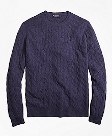 Cashmere Cable Crewneck Sweater