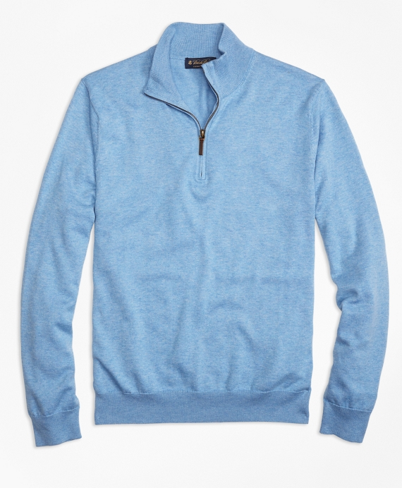 Supima® Cotton Half-Zip Sweater - Brooks Brothers