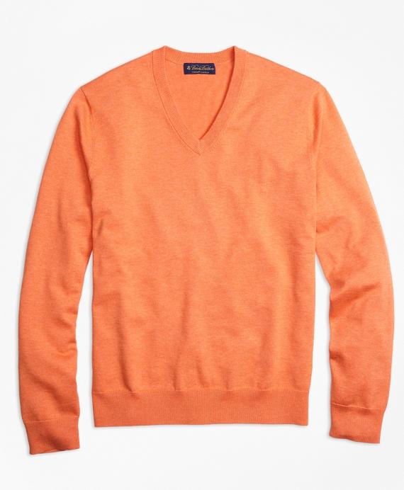 Supima® Cotton V-Neck Sweater