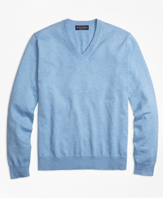 Supima® Cotton V-Neck Sweater - Brooks Brothers