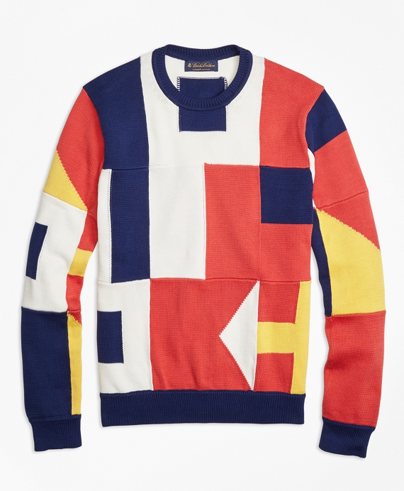Supima® Cotton Signal Flag Crewneck Sweater