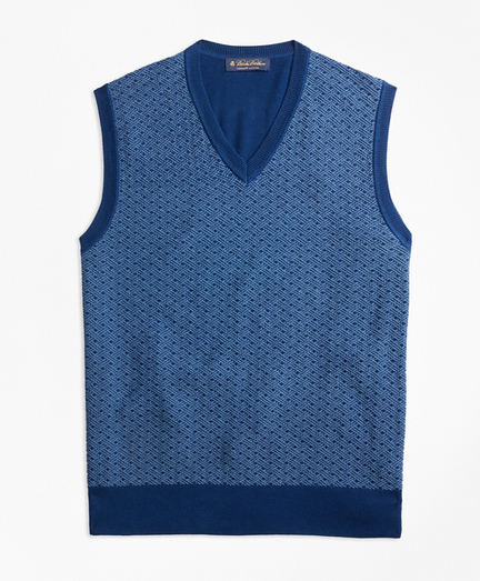 Supima® Cotton Jacquard Sweater Vest