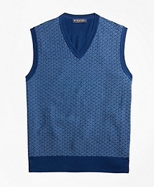 Supima® Cotton Jacquard Sweater Vest