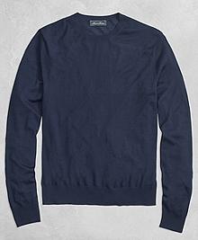 Golden Fleece® 3-D Knit Fine Gauge Crewneck Sweater