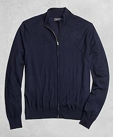 Golden Fleece® 3-D Knit Fine Gauge Full-Zip Sweater
