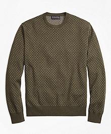 Supima® Cotton Cashmere Bird's-Eye Crewneck Sweater
