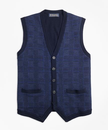 Merino Wool Plaid Waist Coat