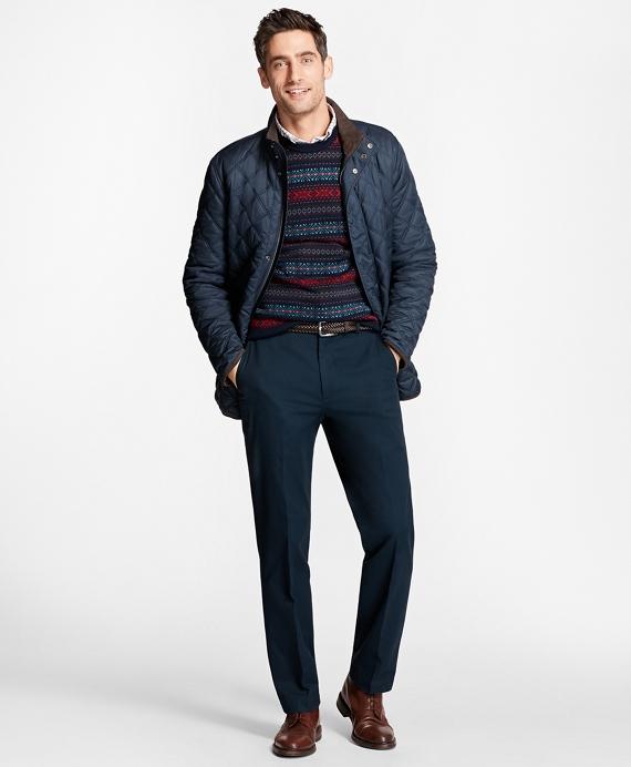 Merino Wool Fair Isle Crewneck Sweater - Brooks Brothers