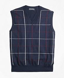 Supima® Cotton Cashmere Windowpane Vest