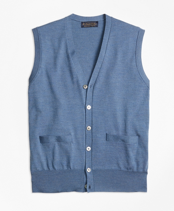 BrooksTech™ Merino Wool Button-Front Vest