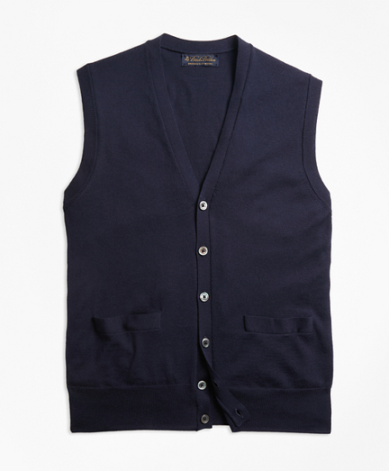 BrooksTech™ Merino Wool Button-Front Vest
