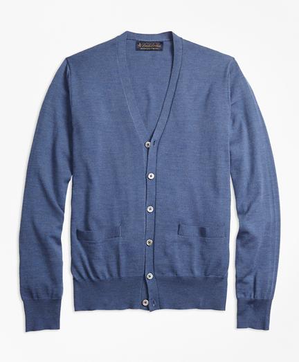 BrooksTech™ Merino Wool Button-Front Cardigan