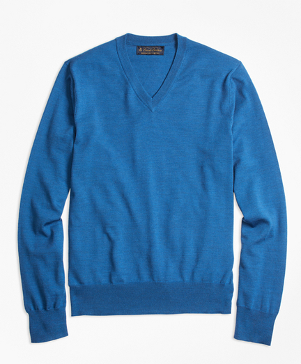 BrooksTech™ Merino Wool V-Neck Sweater