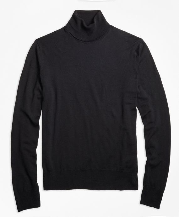 BrooksTech™ Merino Wool Turtleneck Black