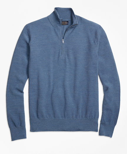 BrooksTech™ Merino Wool Textured Half-Zip