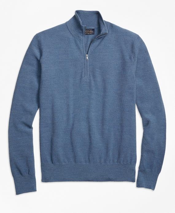 BrooksTech™ Merino Wool Textured Half-Zip