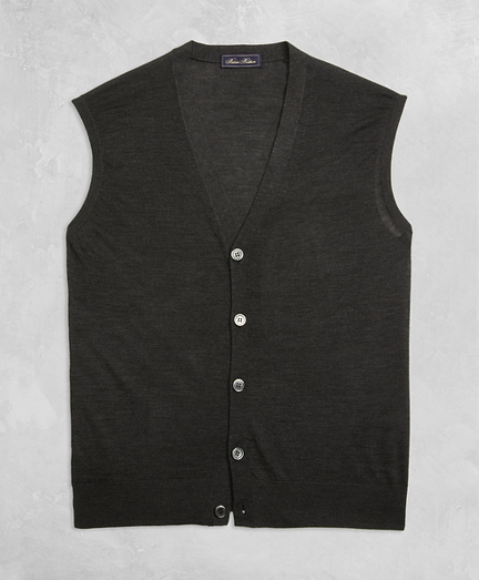 Golden Fleece® 3-D Knit Fine-Gauge Merino Button Vest