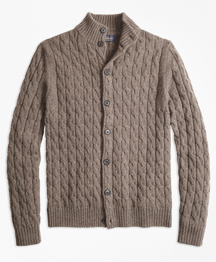 Merino Wool Cable Cardigan