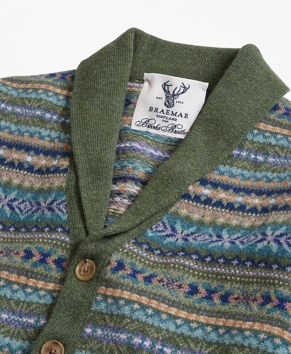 Limited-Edition Braemar™ Lambswool Fair Isle Shawl-Collar Cardigan ...