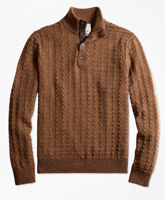 Limited-Edition Braemar™ Lambswool Mockneck Sweater Brown