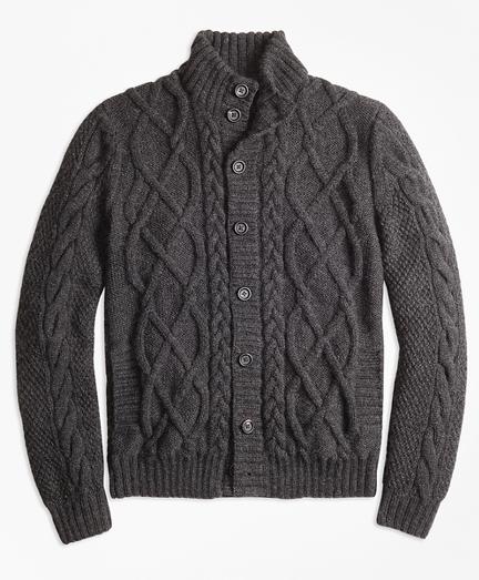 Hand-Knit Merino Wool and Alpaca Cardigan