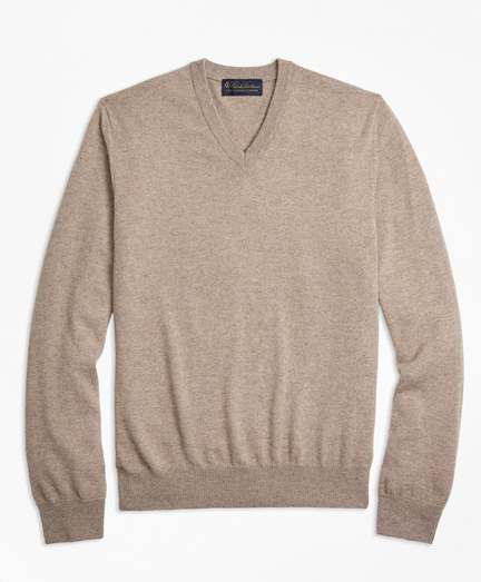 Two-Ply Cashmere V-Neck Sweater