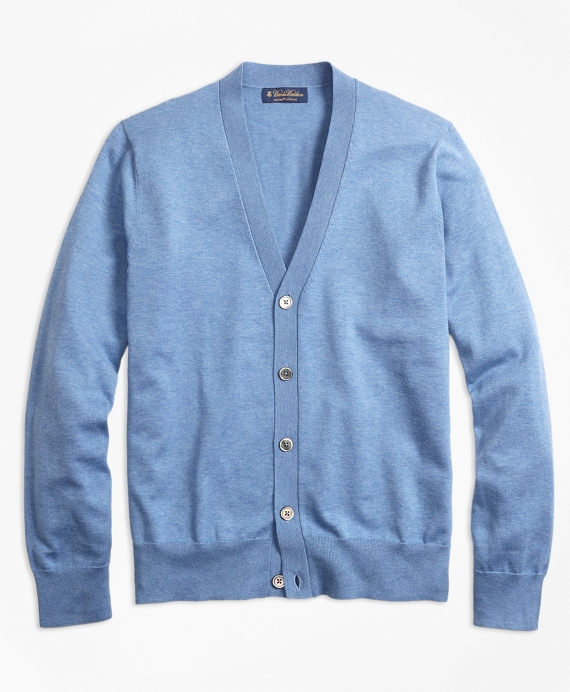 Supima® Cotton V-Neck Cardigan