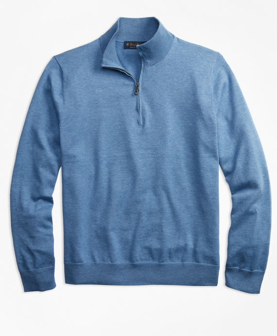 Supima® Cotton Half-Zip Sweater